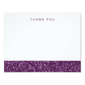 El falso brillo púrpura le agradece invitación 10,8 x 13,9 cm