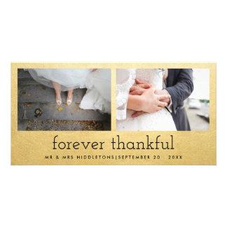 El falso casarse para siempre agradecido de las tarjeta fotografica