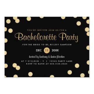 """El falso fiesta de Bachelorette del confeti del Invitación 5"""" X 7"""""""