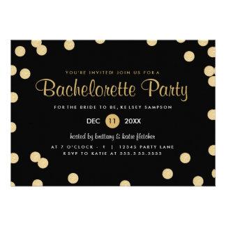 El falso fiesta de Bachelorette del confeti del or Anuncio Personalizado