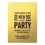El falso fiesta moderno de Noche Vieja de la hoja Invitaciones Personales