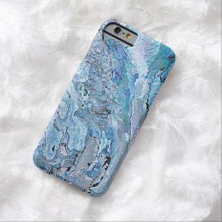 El falso olmo azul púrpura elegante lindo Shell Funda Para iPhone 6 Barely There