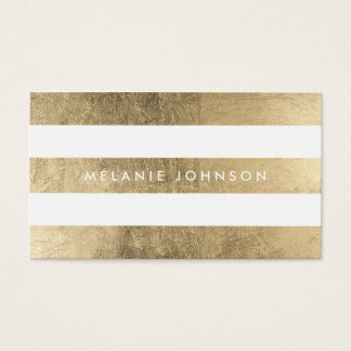 El falso oro elegante moderno raya al profesional tarjetas de visita