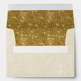 El falso oro moderno chispea en los sobres de