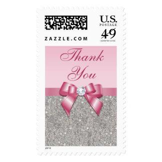 El falsos arco y diamantes rosados le agradecen envio