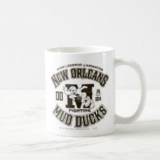 El fango de DAFFY DUCK™ New Orleans Ducks el Taza Básica Blanca