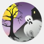 El fantasma de Halloween golpea el 10% de venta Pegatinas Redondas
