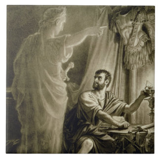 El fantasma de Julio César, en el juego de Guiller Azulejo Cuadrado Grande