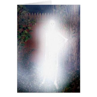 El fantasma de la tarjeta de felicitación de