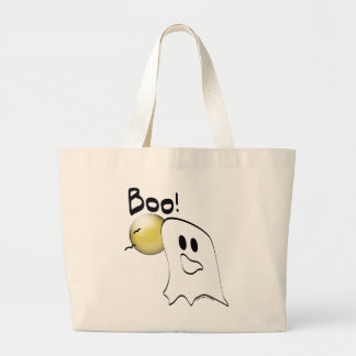 El fantasma dice el abucheo Halloween Bolsas Lienzo