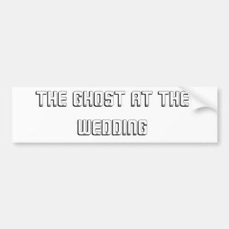 El fantasma en el boda pegatina de parachoque