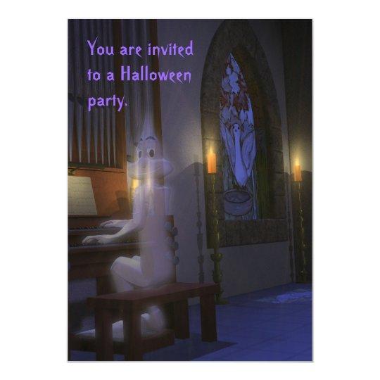 El fantasma juega la invitación del órgano