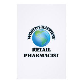 El farmacéutico al por menor más feliz del mundo papeleria personalizada