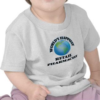 El farmacéutico al por menor más feliz del mundo camiseta