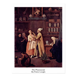 El farmacéutico de Pietro Longhi Tarjeta Postal