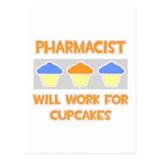 El farmacéutico… trabajará para las magdalenas tarjetas postales