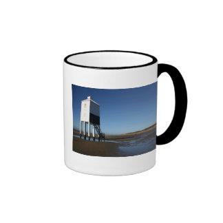 El faro bajo Burnham en el mar Somerset Reino U Tazas De Café