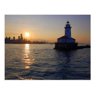 El faro de Chicago Tarjeta Postal