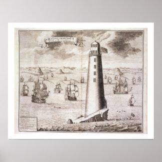 El faro de Eddystone, grabado por Hendrick Hul Impresiones