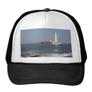 El faro de St Mary, casquillo de la bahía de Whitl Gorros Bordados