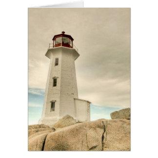 El faro, la ensenada de Peggy, Nueva Escocia. Tarjeta De Felicitación