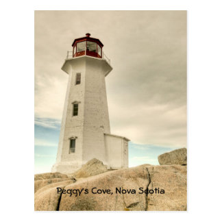 El faro, la ensenada de Peggy, Nueva Escocia. Tarjetas Postales