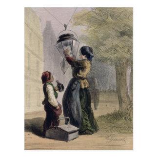 El farolero, de 'Les Femmes de París Tarjeta Postal