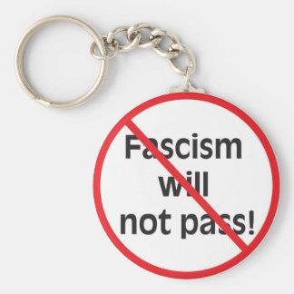 ¡El fascismo no pasará! Llavero Redondo Tipo Pin