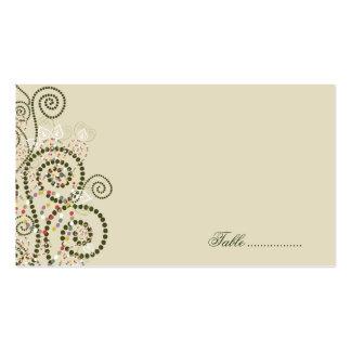 el fatfatin Boho verde tuerce en espiral las Tarjetas De Visita