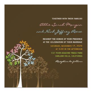 """el fatfatin el casarse de cuatro árboles de las invitación 5.25"""" x 5.25"""""""