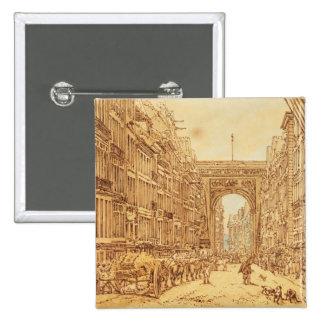 El Faubourg y el Porte Santo-Denis, 1801 Pin Cuadrado