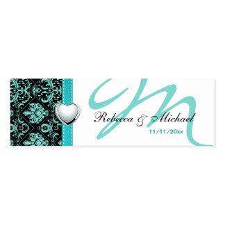 El favor azul/negro del trullo elegante del tarjetas de visita mini