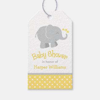 El favor de la fiesta de bienvenida al bebé marca etiquetas para regalos