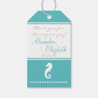 El favor de la huésped del boda de playa le etiquetas para regalos