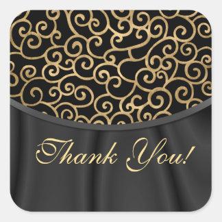 El favor del boda de Dalarian le agradece los pega Colcomanias Cuadradas Personalizadas
