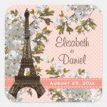 El favor del boda de la torre Eiffel etiqueta a lo