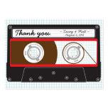 El favor del boda de Mixtape del indie (rojo/negro Tarjeta De Visita