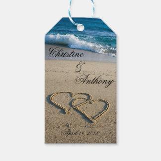 El favor del boda de playa marca el paquete del   etiquetas para regalos