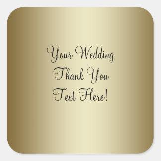 El favor del boda del oro le agradece pegatina