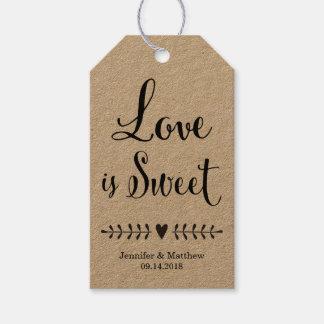 El favor del boda marca con etiqueta/las etiquetas etiquetas para regalos