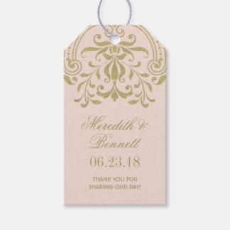 El favor del boda marca encanto del vintage con etiquetas para regalos