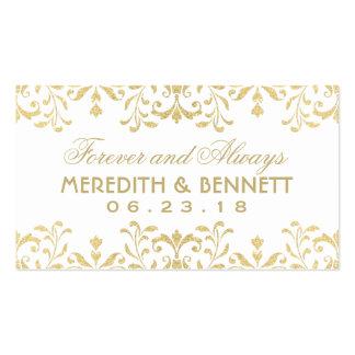 El favor del boda marca encanto del vintage con tarjetas de visita