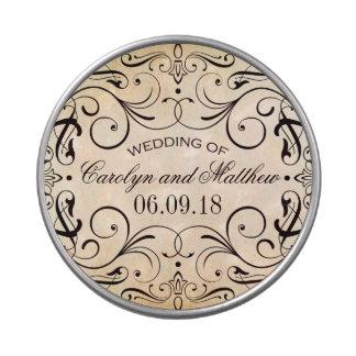El favor del caramelo del boda estaña Flourish del Latas De Dulces