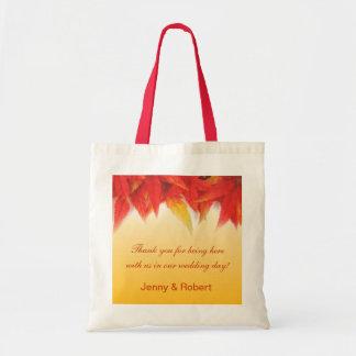 El favor elegante, bonito del boda de la caída le bolsas