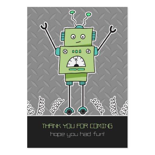 El favor feliz del robot y de fiesta de las tarjeta de visita