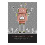 El favor feliz del robot y de fiesta de las plantillas de tarjeta de negocio
