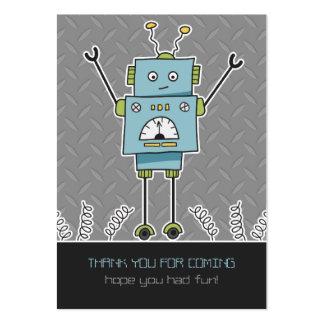 El favor feliz del robot y de fiesta de las tarjetas de visita grandes