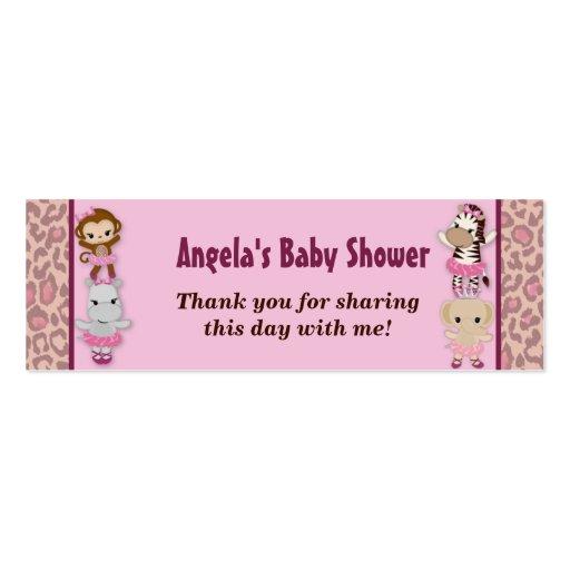 El favor lindo de la fiesta de bienvenida al bebé tarjetas de visita mini