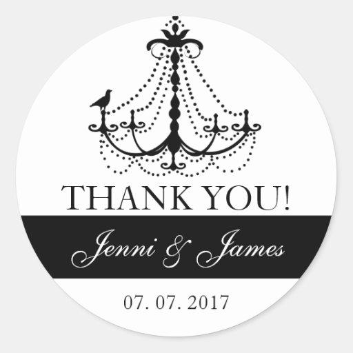 El favor lindo del boda de la lámpara le agradece pegatina redonda