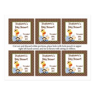El favor marca el juego de los cuentos con etiquet tarjetas postales